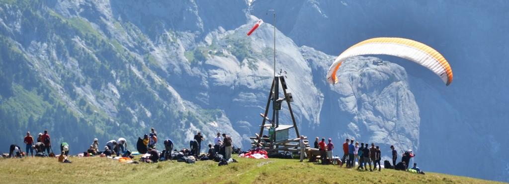 Paragliding site. Jungfrau region, Switzerland